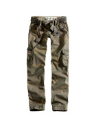 SURPLUS LADIES PREMIUM TROUSERS SLIMMY, woodland gewaschen