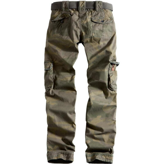 SURPLUS LADIES PREMIUM TROUSERS SLIMMY, woodland gewaschen M / 36
