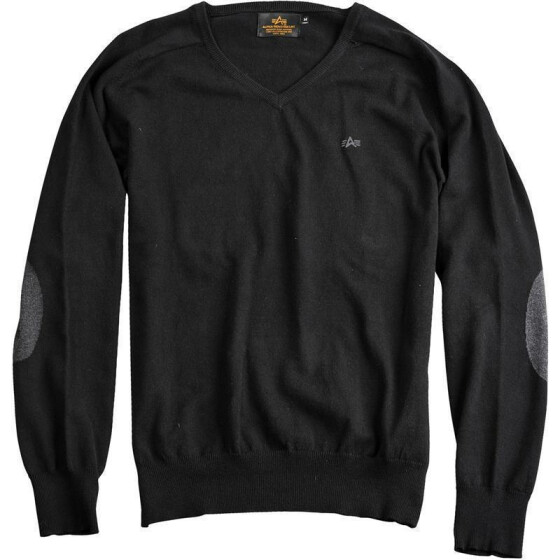 Alpha Industries V-Neck Knit, black