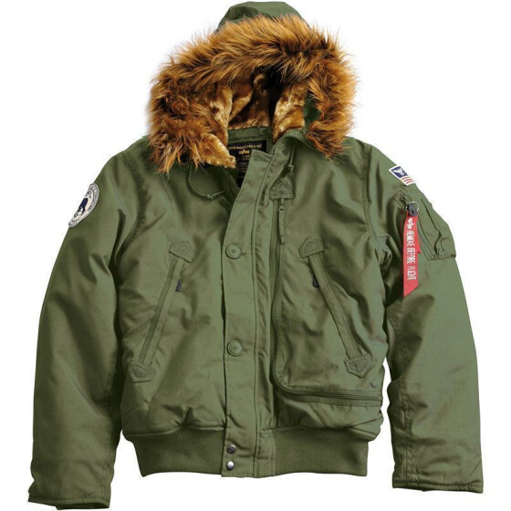 Alpha Industries  Polar Jacket SV, dark green M