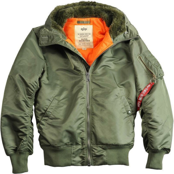 Alpha Industries MA-1 HOODED, sage green M