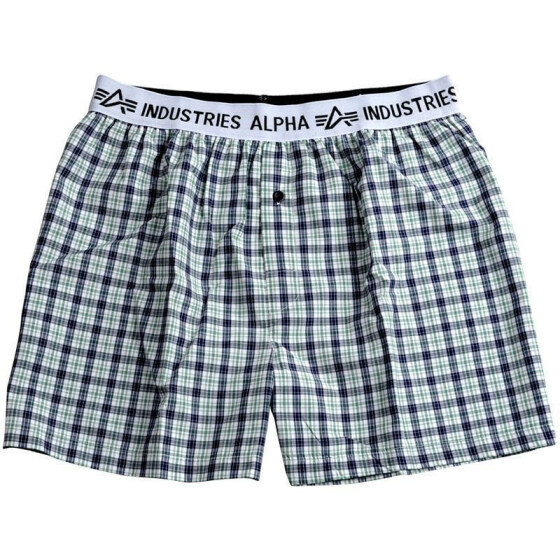 Alpha Industries BODYWEAR BOXER CHECKED, green ckd