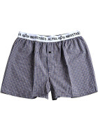 Alpha Industries BODYWEAR BOXER CHECKED, brown ckd L