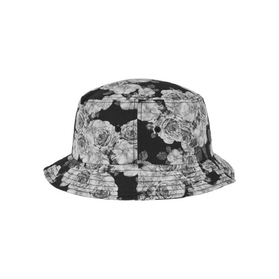 Flexfit Roses Bucket Hat, blk/wht
