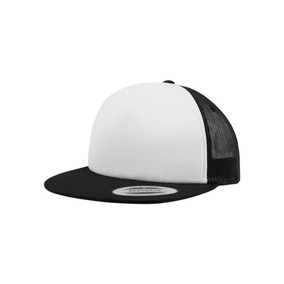Flexfit Foam Trucker with White Front, blk/wht/blk