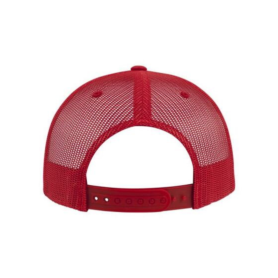 Flexfit Foam Trucker with White Front, red/wht/red