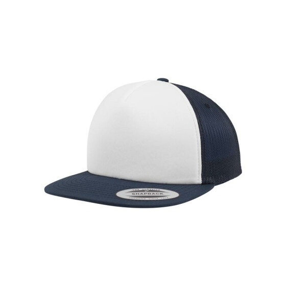 Flexfit Foam Trucker with White Front, nvy/wht/nvy
