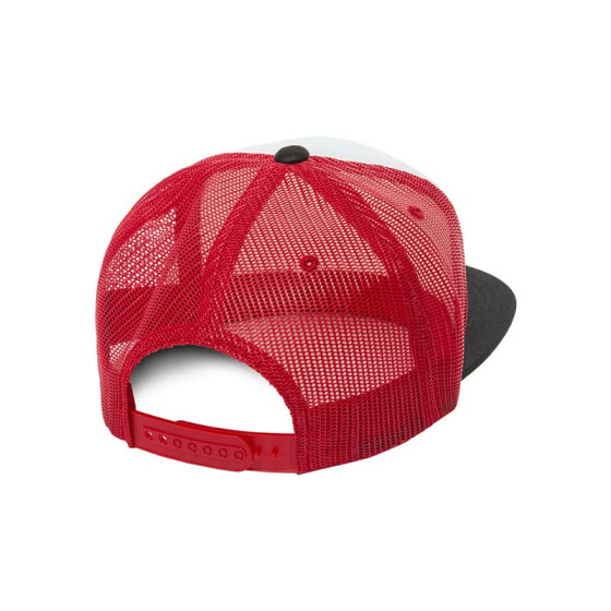 Flexfit Foam Trucker with White Front, blk/wht/red