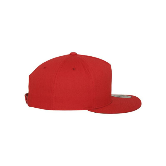 Flexfit Classic 5 Panel Snapback, red