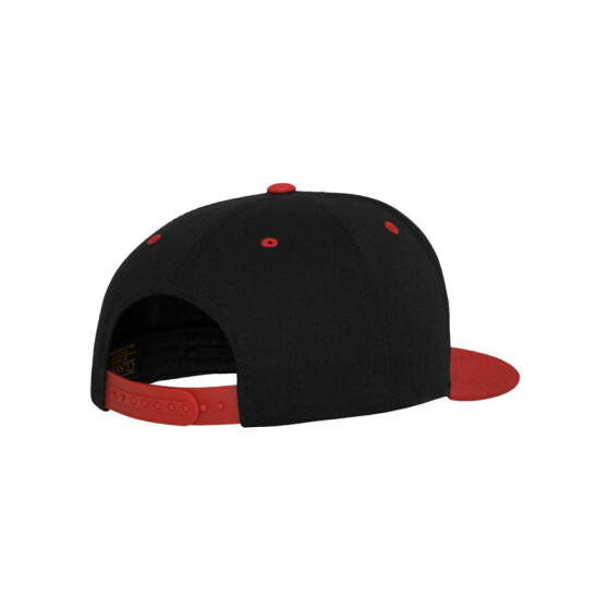 Flexfit Classic 5 Panel Snapback, blk/red