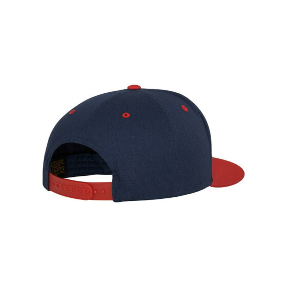 Flexfit Classic 5 Panel Snapback, nvy/red