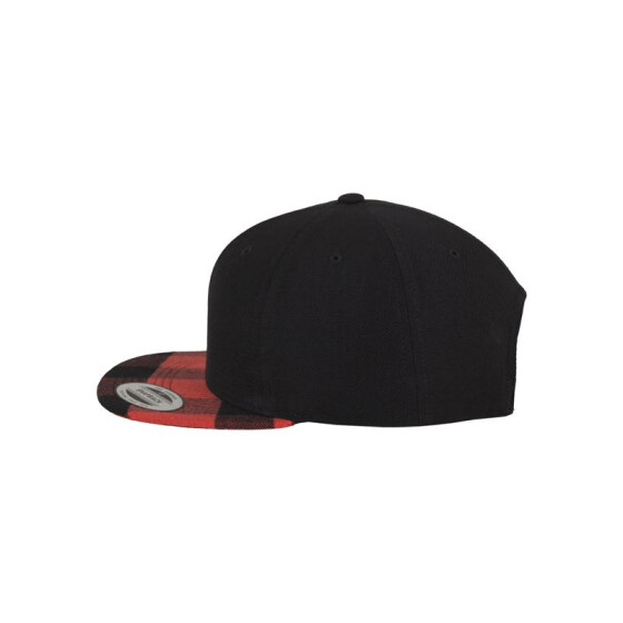 Flexfit Checked Flanell Peak Snapback, blk/red