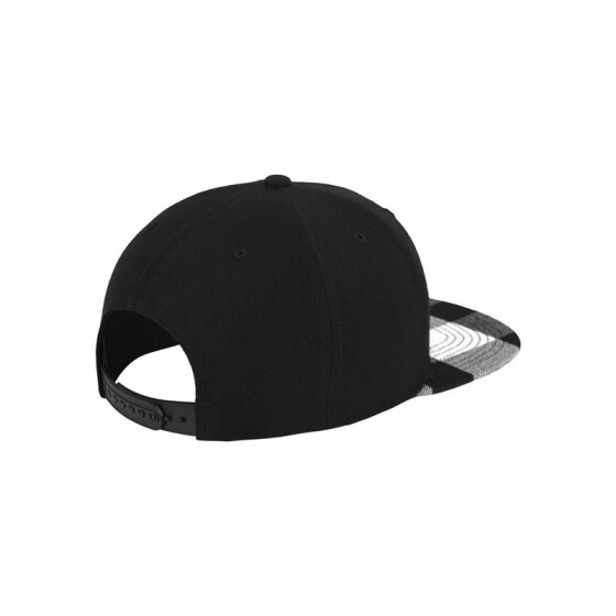 Flexfit Checked Flanell Peak Snapback, blk/wht