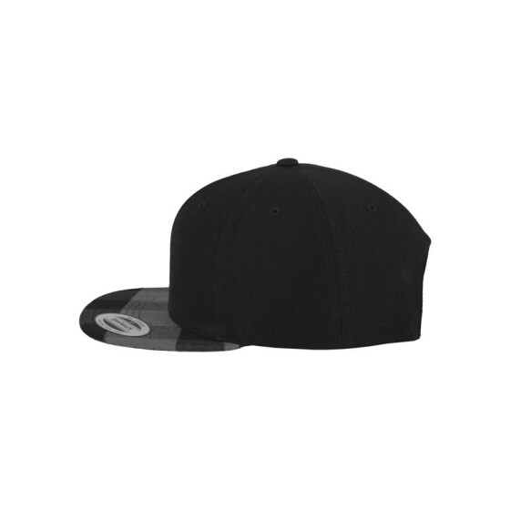 Flexfit Checked Flanell Peak Snapback, blk/cha