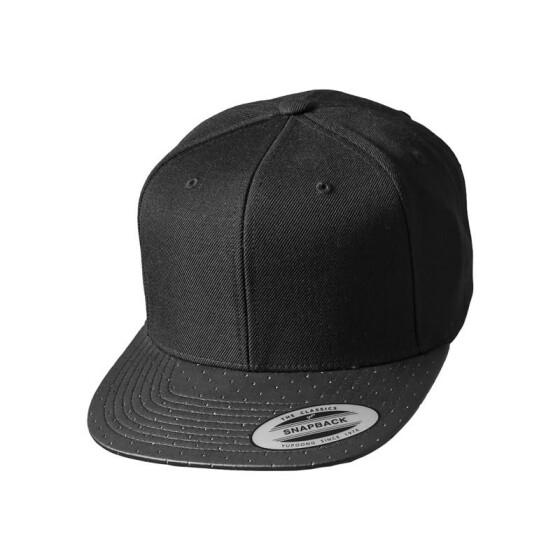 Flexfit Perforated Visor Snapback, black