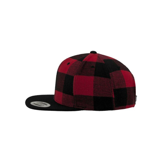 Flexfit Checked Flanell Snapback, blk/red