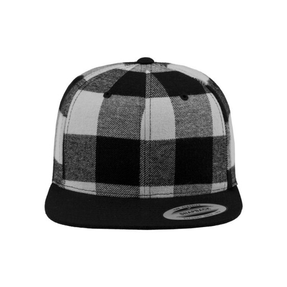Flexfit Checked Flanell Snapback, blk/wht