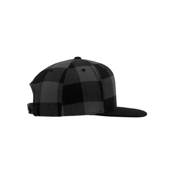 Flexfit Checked Flanell Snapback, blk/cha