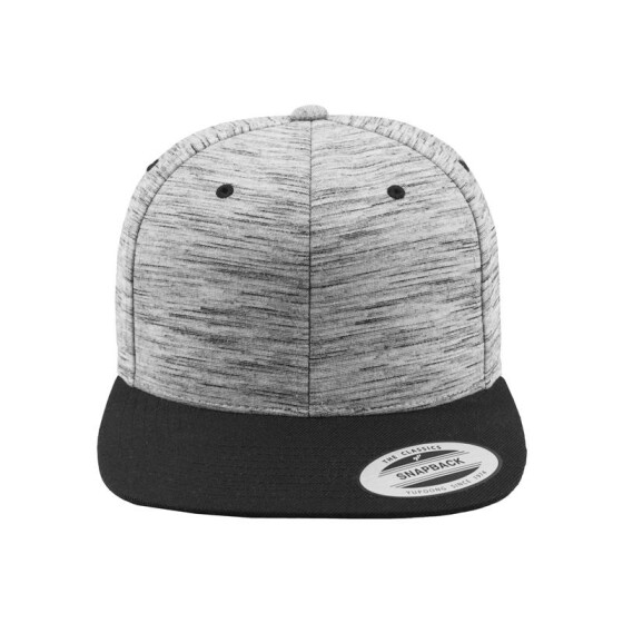 Flexfit Stripes Melange Crown Snapback, blk/gry