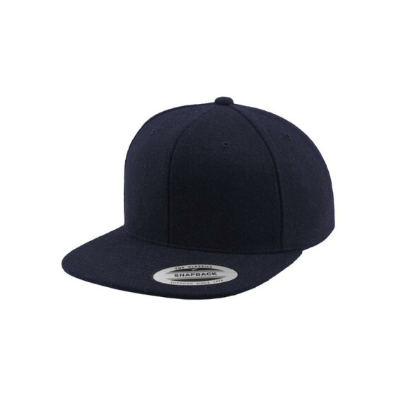 Flexfit Melton Wool Snapback, navy