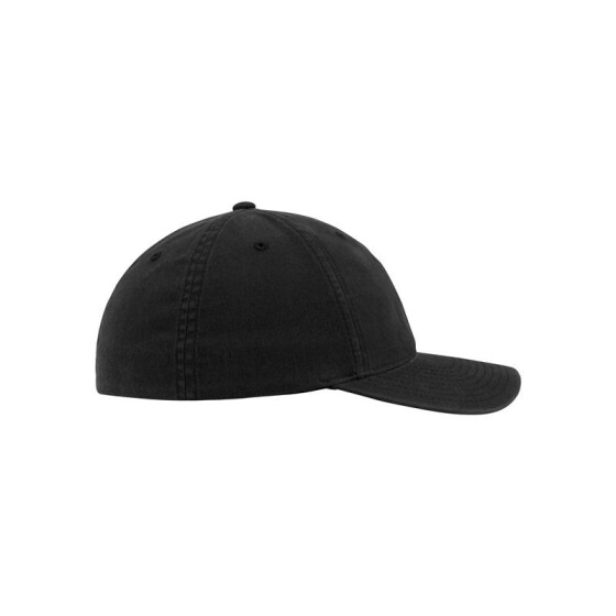 Flexfit Garment Washed Cotton Dad Hat, black