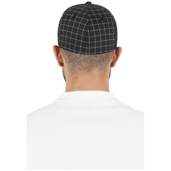 Flexfit Square Check Cap, blk/wht