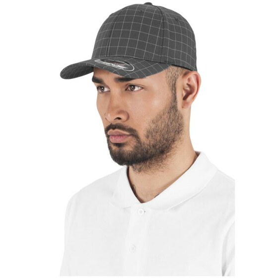 Flexfit Square Check Cap, darkgrey/grey