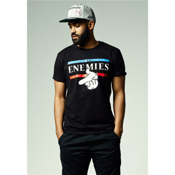 Mister Tee I Got Enemies Tee, black