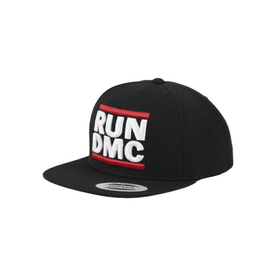 Mister Tee Run DMC Logo Snapback, black