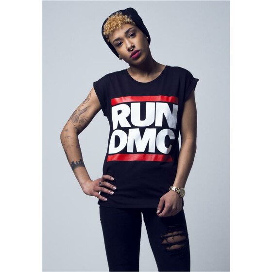 Mister Tee Ladies Run DMC Logo Tee, black