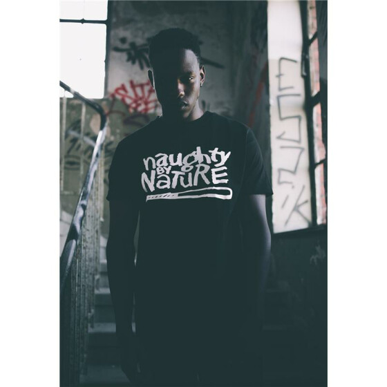 Mister Tee Naughty By Nature Logo Tee, black