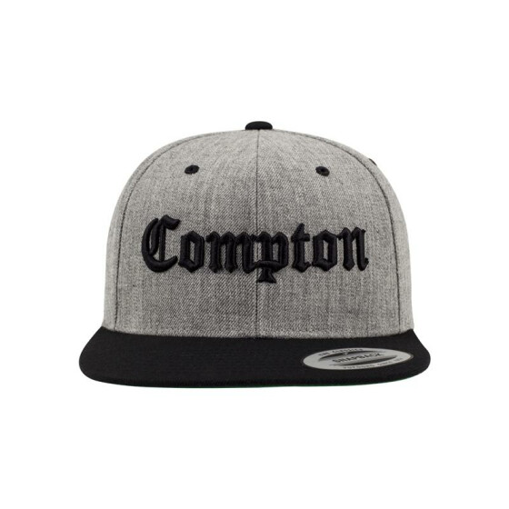 Mister Tee Compton Snapback, h.grey/blk