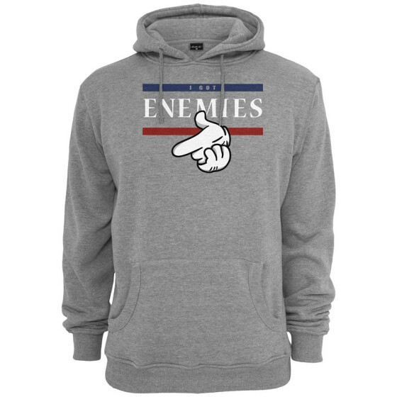 Mister Tee I Got Enemies Hoody, h.grey