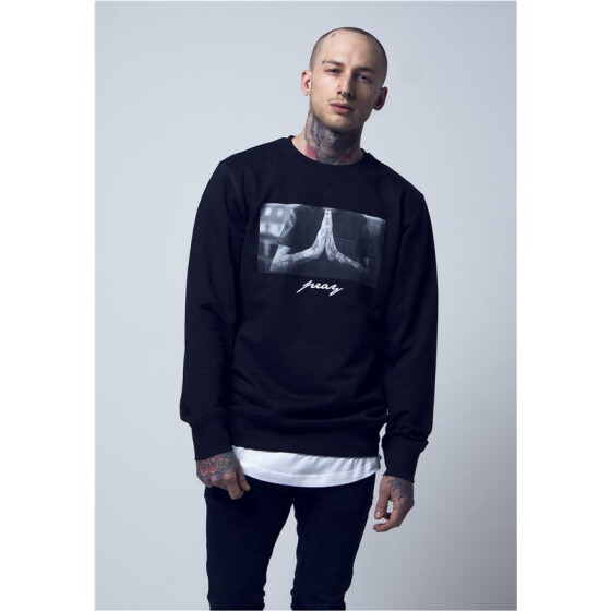 Mister Tee Pray Crewneck, black