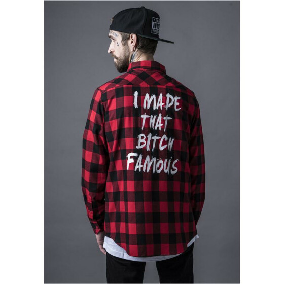 Mister Tee Famous Shirt, blk/red