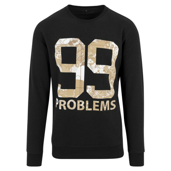 Mister Tee 99 Problems Desert Camo Crewneck, black