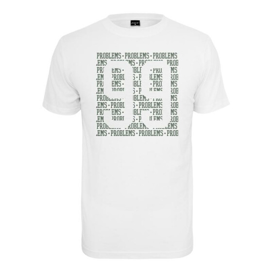 Mister Tee 99 Problems Lines Tee, white