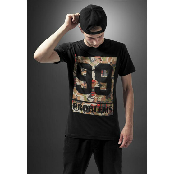 Mister Tee 99 Problems Block Camo Tee, black