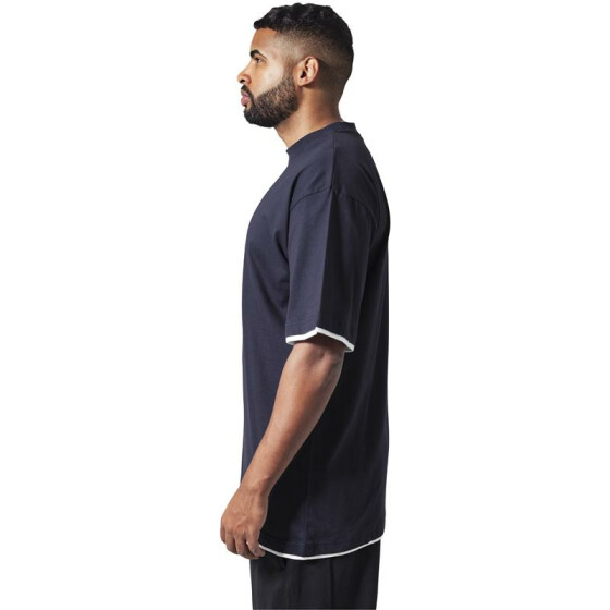 Urban Classics Contrast Tall Tee, nvy/wht