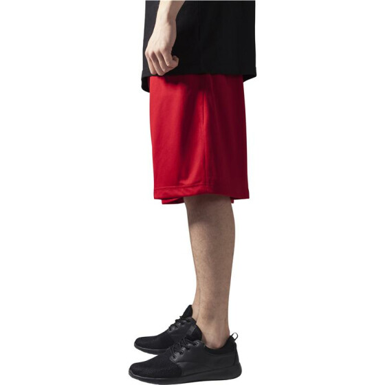 Urban Classics Bball Mesh Shorts, red