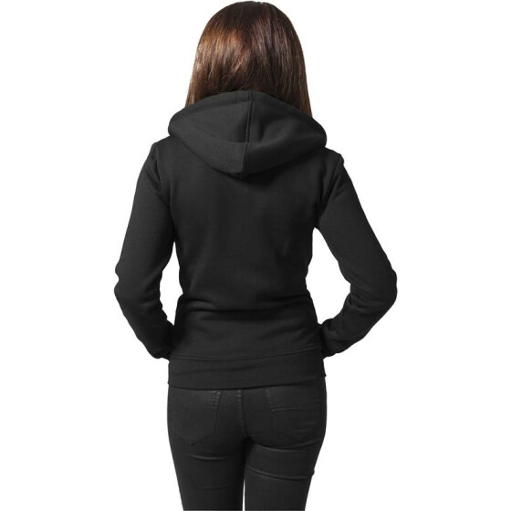 Urban Classics Ladies Zip Hoody, black