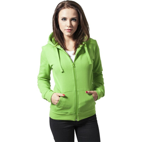 Urban Classics Ladies Zip Hoody, limegreen