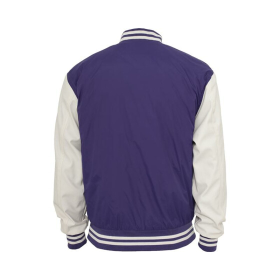 Urban Classics Light College Jacket, pur/wht