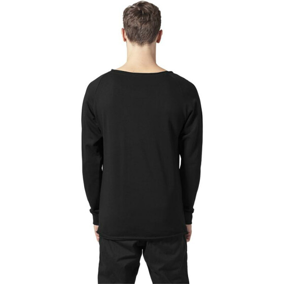 Urban Classics Long Open Edge Terry Crewneck, black