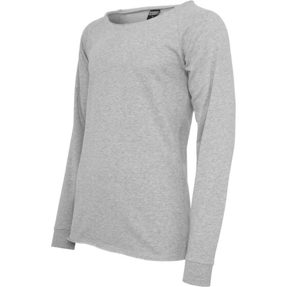 Urban Classics Long Open Edge Terry Crewneck, grey