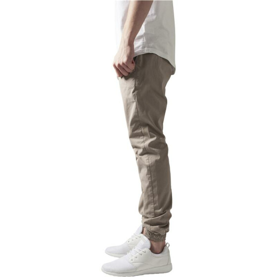 Urban Classics Cotton Twill Jogging Pants, beige
