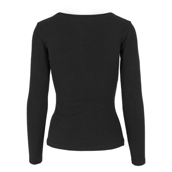 Urban Classics Ladies Rib Pocket L/S Tee, black
