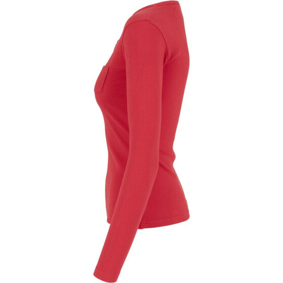 Urban Classics Ladies Rib Pocket L/S Tee, fire red