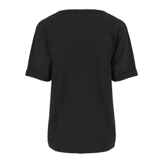 Urban Classics Ladies Short Sleeve Terry Crew, black