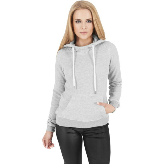 Urban Classics Ladies Melange Shoulder Quilt Hoody, gry/gry